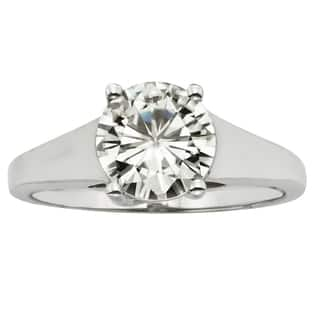 Charles & Colvard 14k Gold 1.90 TGW Round Forever Brilliant Moissanite Solitaire Ring|https://ak1.ostkcdn.com/images/products/9629008/P16814691.jpg?impolicy=medium