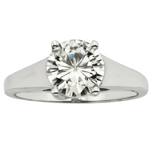 Charles & Colvard 14k Gold 1.90 TGW Round Forever Brilliant Moissanite Solitaire Ring