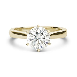 Charles and Colvard 14k Gold 1 7/8ct DEW Round Forever Brilliant Moissanite Solitaire Ring (2 options available)