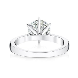 Charles & Colvard 14k Gold 1 7/8ct DEW Round Forever Brilliant Moissanite Solitaire Ring