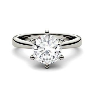 Link to Moissanite by Charles & Colvard 14k 1.90 TGW Gold Round Solitaire Ring Similar Items in Rings