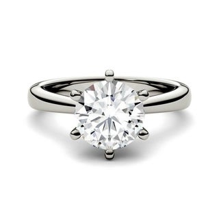 Charles and Colvard 14k Gold 1 7/8ct DEW Round Forever Brilliant Moissanite Solitaire Ring (More options available)