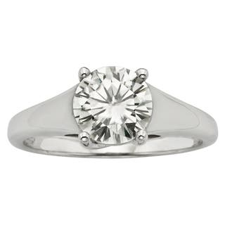 Charles & Colvard 14k Gold 1.50 TGW Round Forever Brilliant Moissanite Solitaire Ring|https://ak1.ostkcdn.com/images/products/9629016/P16814698.jpg?impolicy=medium