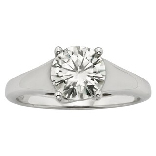 Charles & Colvard 14k Gold 1.50 TGW Round Forever Brilliant Moissanite Solitaire Ring (2 options available)