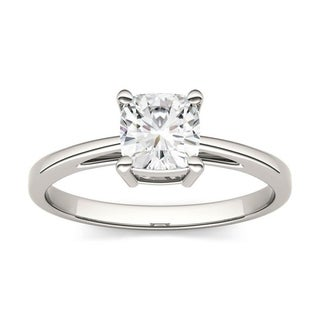 Charles & Colvard 14k Gold 1 1/10ct TGW Cushion Forever Brilliant Moissanite Solitaire Ring