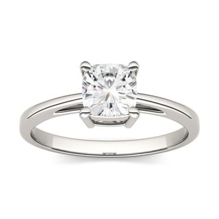 Charles & Colvard 14k Gold 1.10 TGW Cushion Forever Brilliant Moissanite Solitaire Ring