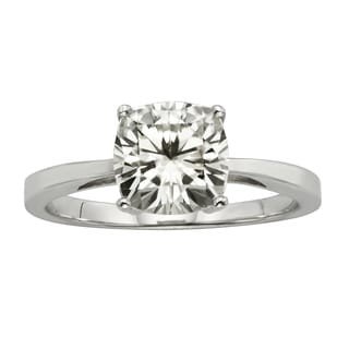 Charles & Colvard 14k Gold 1.70 TGW Cushion Forever Brilliant Moissanite Solitaire Ring