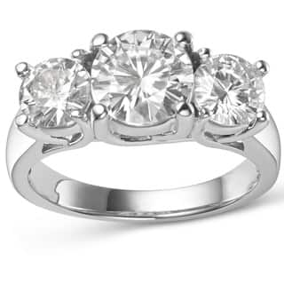 Charles & Colvard 14k Gold 3 9/10ct DEW Round Forever Brilliant Moissanite 3-stone Ring|https://ak1.ostkcdn.com/images/products/9629024/P16814705.jpg?impolicy=medium