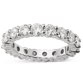 Charles & Colvard 14k Gold 3.04 TGW Round Forever Brilliant Moissanite Eternity Band