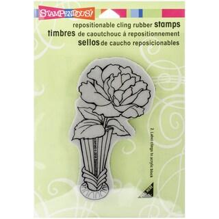 "Stampendous Cling Rubber Stamp 3.5""X4"" Sheet-Vase Bloom"