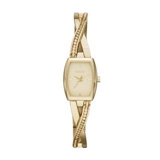 DKNY Women's Crosswalk Yellow Goldtone Crystal Glitz Watch