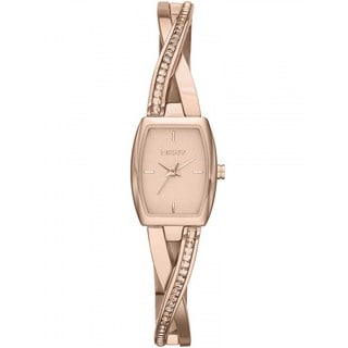 DKNY Women's NY2238 Crosswalk Rose Goldtone Glitz Timepiece
