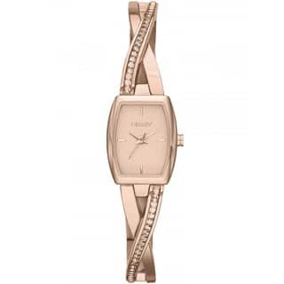 DKNY Women's NY2238 Crosswalk Rose Goldtone Glitz Timepiece|https://ak1.ostkcdn.com/images/products/9629090/P16814727.jpg?impolicy=medium