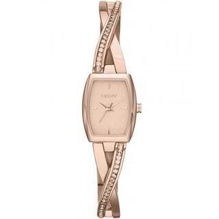 DKNY Women's NY2238 Crosswalk Rose Goldtone Glitz Timepiece