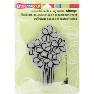 """Stampendous Cling Rubber Stamp 3.5""""X4"""" Sheet-Blossom Bunch"""