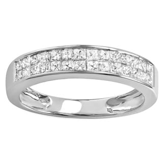 Elora 14k White Gold 4/5ct TDW Diamond Anniversary Wedding Band (H-I, I1-2)