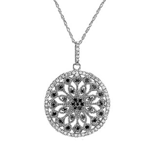 10k White Gold 1/2ct TDW Diamond Fancy Antique Circle Medallion Pendant (I-J, I1-I2)