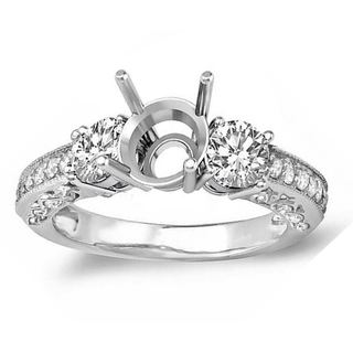14k White Gold 3/4ct TDW Diamond Bridal Semi-mount Engagement Ring (H-I, I1-I2)