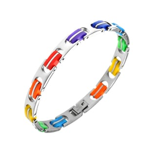 Gay Pride Rainbow Stainless Steel Bracelet