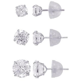 14k Solid Gold 4,5,6,mm Round Superbright CZ Stud Earrings Set|https://ak1.ostkcdn.com/images/products/9629266/P16814834.jpg?impolicy=medium