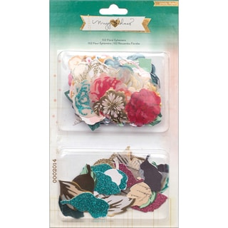 Maggie Holmes Open Book Cardstock Die-Cuts 102/Pkg-Floral Ephemera Flowers & Leaves