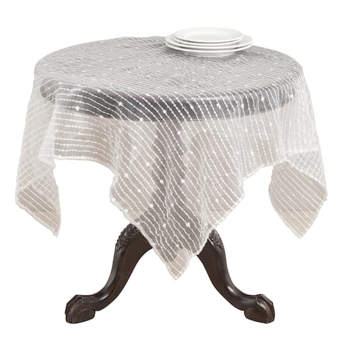 Striped Sheer Tablecloth Topper