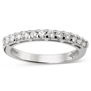 Charles & Colvard 14k Gold 0.42 TGW Round Classic Moissanite Shared Prong Band