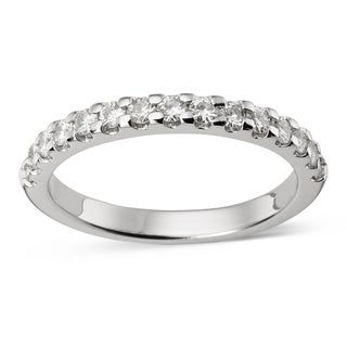 Charles and Colvard 14k Gold 1/ 2 TGW Round Moissanite Shared Prong Bridal Band (5 options available)