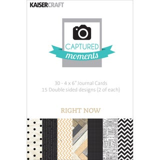 """Captured Moments Double-Sided Cards 6""""X4"""" 30/Pkg-Right Now"""