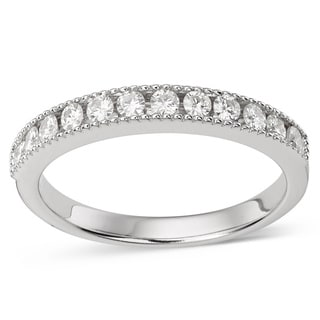 Charles & Colvard 14k Gold 0.36 TGW Round-cut Classic Moissanite Channel Band