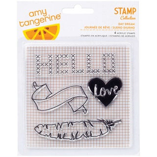 Amy Tan Stitched Clear Acrylic Stamps-Day Dream
