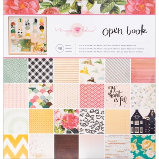 """Crate Paper Paper Pad 12""""X12"""" 48/Pkg-Maggie Holmes Open Book"""