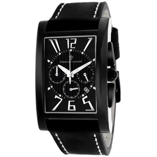 Christian Van Sant CV4512 Men's Cannes Square Black Strap Watch