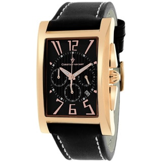 Christian Van Sant CV4511 Men's Cannes Square Black Strap Watch