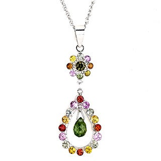Soho Boutique by Neda Behnam 18k White Gold Multicolored Green Sapphire Multicolored Gemstone Necklace