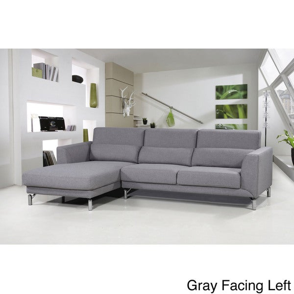 Attractive Aria Fabric Modern Sectional Sofa Set