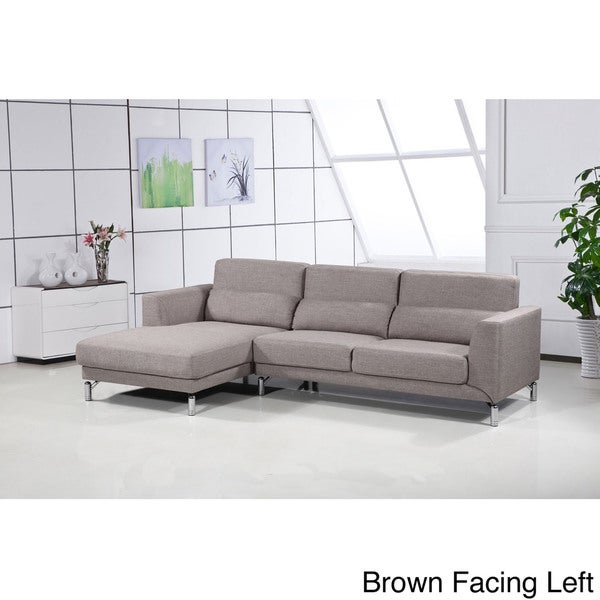 sothell contemporary sectional sofa with chaise modern sofas cheap 4087 leather recliners aria fabric set