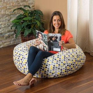 Christopher Knight Home Riley Faux Suede 3-foot Polka-Dot Lounge Beanbag Chair