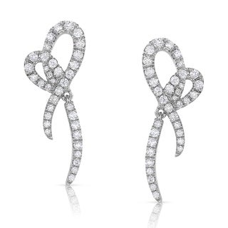 Eloquence 14k White Gold 2/3ct TDW White Diamond Stud Earrings (H-I, I1-I2)