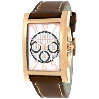 Christian Van Sant CV4515 Men's Cannes Square Brown Strap Watch