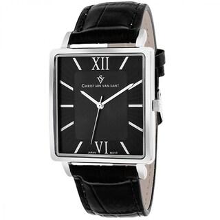 Christian Van Sant CV8510 Men's Monte Cristo Square Black Strap Watch