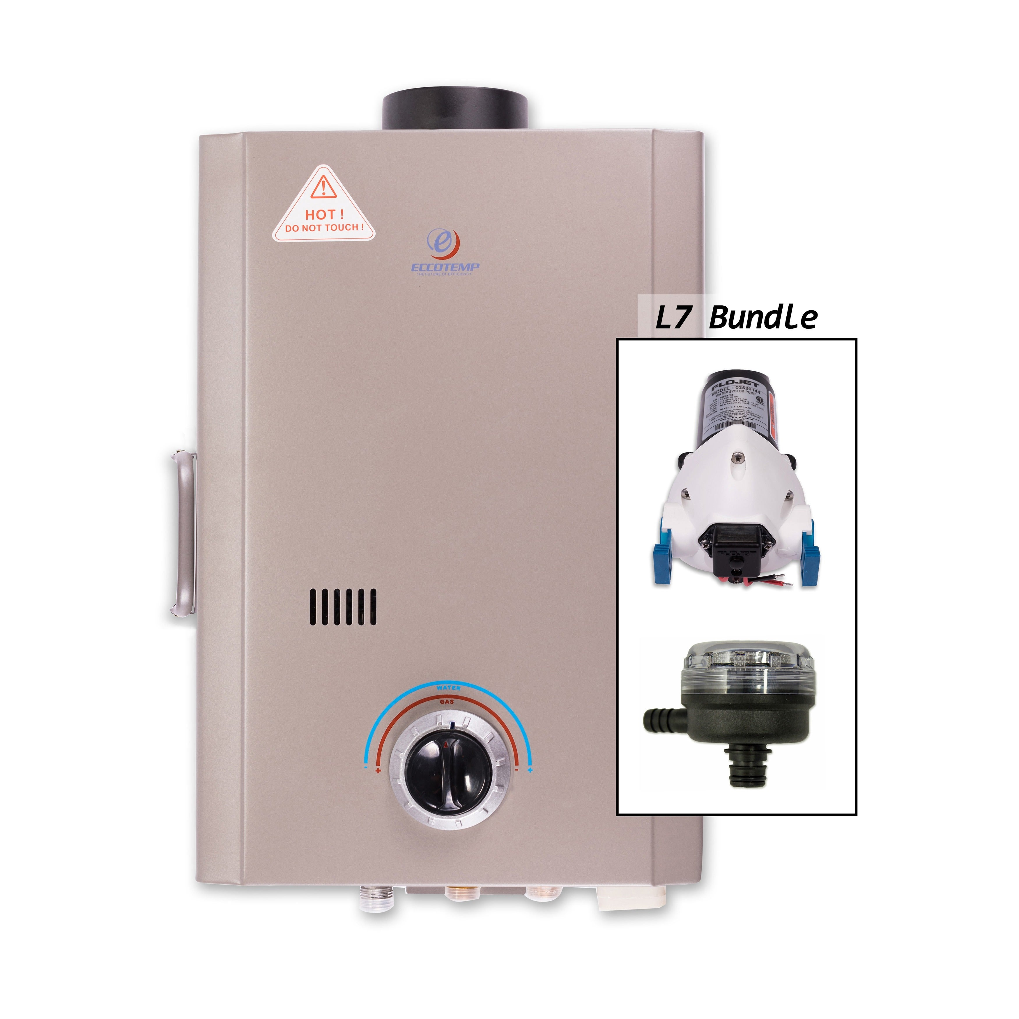 Eccotemp L7 Tankless Water Heater with Flojet Pump and St...