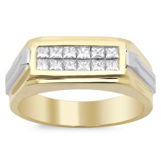 14k Men's Diamond Ring 3/4 ct TDW (E-F, VS1-VS2)