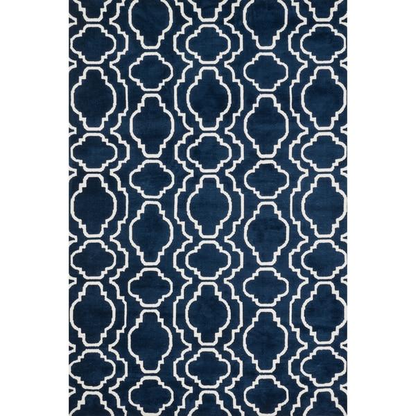 Aaron Moroccan Microfiber Woven Rug (2'3 x 3'9)