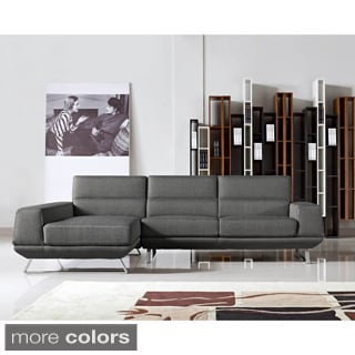 Aileen Fabric Contemporary Left Chaise Sectional Sofa set