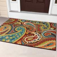 Havenside Home Morgantown Indoor/Outdoor Rainbow Paisley Rug - 3'10 x 5'5