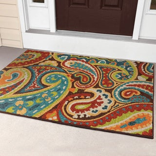 Havenside Home Morgantown Indoor/Outdoor Rainbow Paisley Rug - 3'10 x 5'5