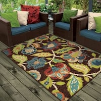 Havenside Home Anahuac Indoor/Outdoor Brown Area Rug By (3'10 x 5'5)