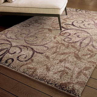 "Euphoria Collection Dakota Taupe Olefin Area Rug (7'10"" x 10'10"")"