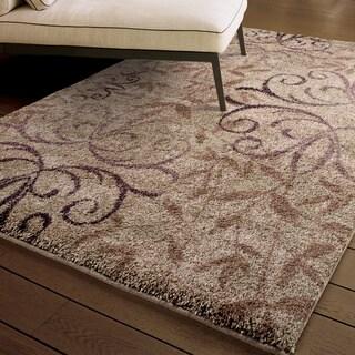 Carolina Weavers Comfy and Cozy Grand Comfort Collection Toro Beige Shag Area Rug (7'10 x 10'10)
